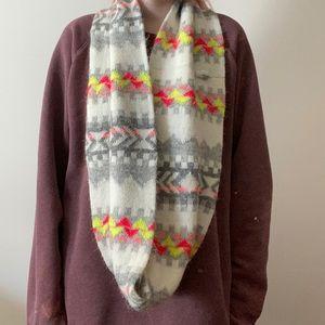 AE neon tribal print scarf / infinity / colourful